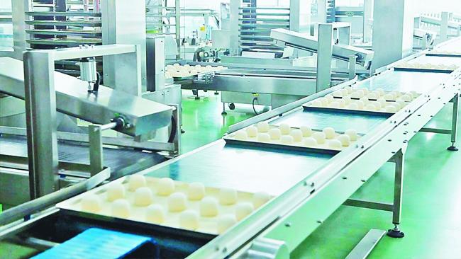 苏州某食品厂定制九脚塑料托盘