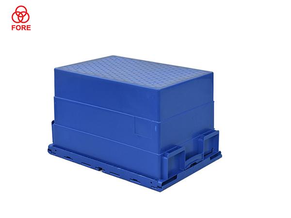 斜插塑料周转箱600-400-365